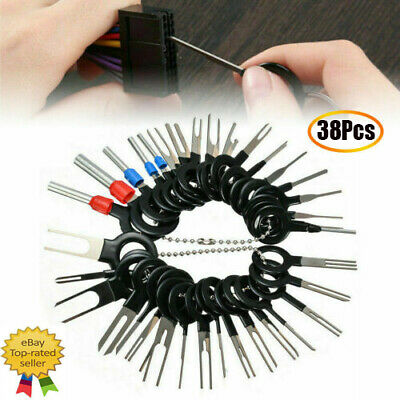 38x Wire Terminal Removal Tool Car Electrical Wiring Crimp Connector Pin Kit