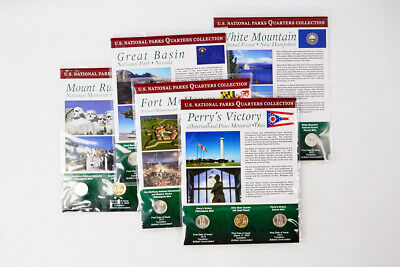 2013 P, D, GP Set of 5 First Day of Issue National Parks Quarters Collection