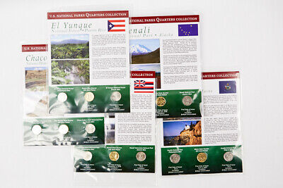 2012 P, D, GP Set of 5 First Day of Issue National Parks Quarters Collection