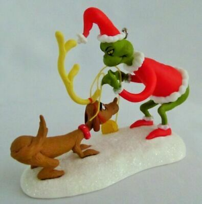 Department 56 Dr Seuss The Grinch All I Need Is A Reindeer Christmas Figurine #804155
