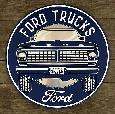 FORD America's #1 Truck Since 1917 Vintage Circular Tin Metal Sign