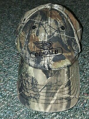 DEKALB SEED *BLAZE ORANGE /& REALTREE CAMO* Logo CAP HAT *BRAND NEW* DS59