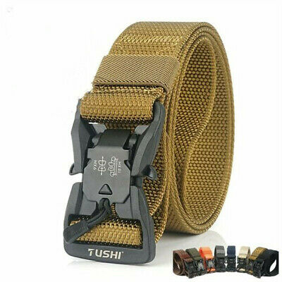Brand New Berne Thick Leather and Canvas Heavy Duty Work Belt Size 36