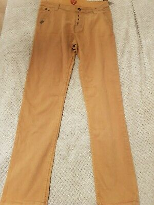 Kids Levis jeans Age 14 Button Fly, Regular Fit, light brown.