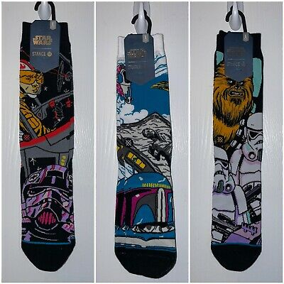 NEW! 9-12 STANCE Star Wars Men/'s Chewbacca Socks Size Large