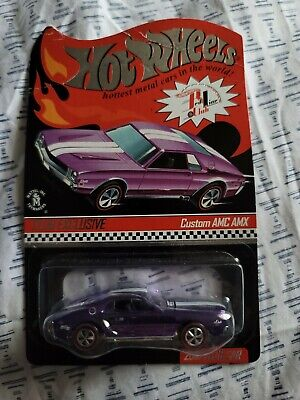 HOT WHEELS RED LINE CLUB SELECTIONS CUSTOM AMC AMX SPECTRAFLAME PINK NEW SEALED