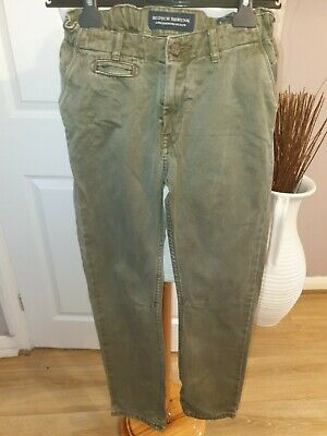 Superb Boys Designer Scotch Shrunk Khaki Jeans Uk 10 Years Rrp £70.00