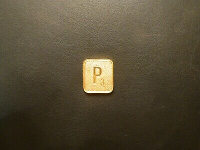 Franklin Mint 1990 Gold Plated Scrabble Tile Free US Shipping C