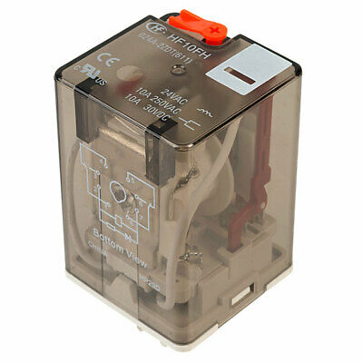 Hongfa HF10FH024A2ZDT 2 Pole 10A 24VAC 8 Pin Plug In Power Relay
