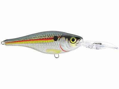 """2 1//2/""""BODY,SILVER HOLOGRAPHIC SIDES,BLK TOP-----MINT RAPALA /""""X-RAP SHAD 06/"""""""
