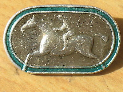 Old Russian Pin Badge Buttons Sport Vintage metal USSR Horse Knight VTG Rider