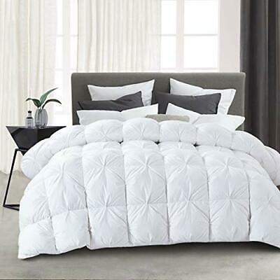 Ubauba All-Season Down Comforter 100/% Cotton Hypoallergenic Quilted Feather Comf