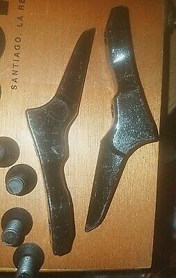 """New Replacement Gaffs For Pole Climbing Spikes / Spurs Set With Screws Gear 4.5"""""""
