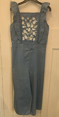 Chambray blue Was £35 Now £14.99 New Ex Boden Embroidered Jumpsuit