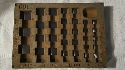 Rare! Antique Vintage Gold Coin Change Counter- Bank Sorting Tray-  Collectible!