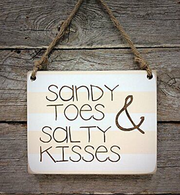 SANDY TOES /& SALTY KISSES Beach House Vinyl Wall Decal Decor Words Lettering