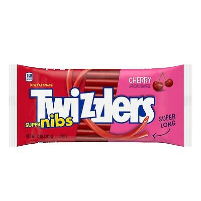 American USA Imported Candy Twizzlers Cherry Super Nibs 311g 11oz Sweets