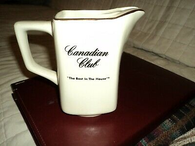 """Canadian Club """"The Best In The House"""" Pitcher"""