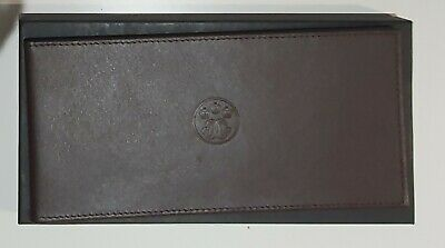 Coutts New Burgundy Leather Cheque Book Holder