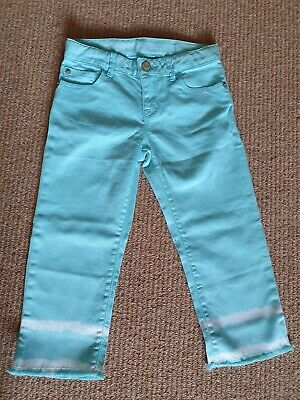 Size 7 Regular, Gap Kids 1969 Girls Straight Crop Jeans, Turquoise, NEW
