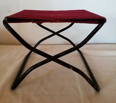 Antique Vtg Iron Folding Buggy Seat Wagon Childs Booster Foot Rest Stool Ladies