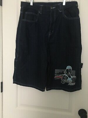 Vintage Men's Blue Denim Jean Dirty South Boys Shorts Sz 34