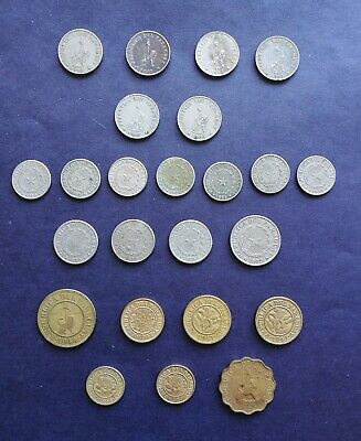 Lot of 24 PARAGUAY 1903 TO 1953 COINS