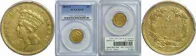1854-O $3 Gold Coin PCGS XF-45