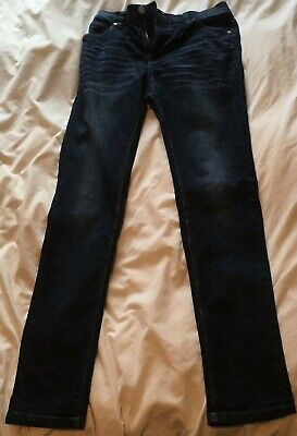 AGE 14 NEXT SUPER SKINNY JEANS HEIGHT 164cm ADJUSTABLE WAIST ZIP FLY GOOD USED