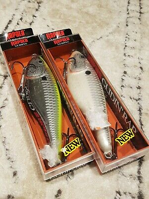RAPALA GLIDIN RAP 12==`1 BANDED RED COLORED FISHING LURES=GLR12=DISCONTINUED