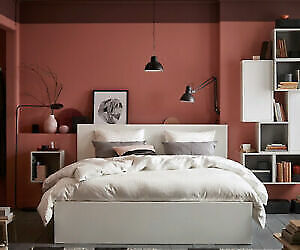 Ikea Malm Bed Frame White Queen With 4 Storage Drawers 215 00 Picclick