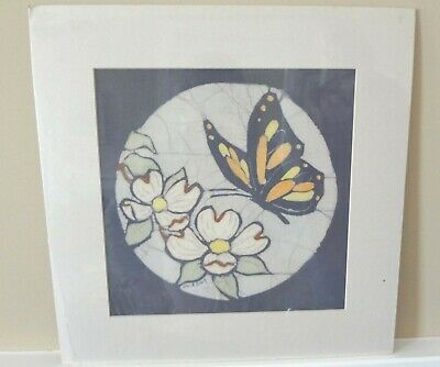 Camellia Flowers and Butterfly - Original Batik Painting by Alice A. Craig