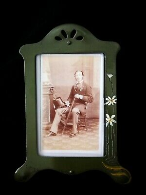 Charming Original Art Nouveau ,Jugendstil,Green  Metal Picture /Photo Frame
