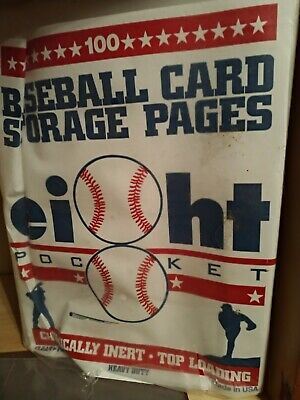 baseball cards storage pages clear file