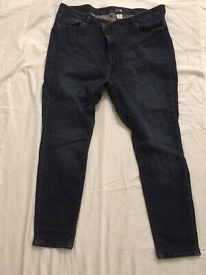 H&M Womens Jeans, Size 24, Dark Blue, Skinny Shaping