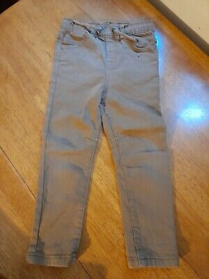 Boys George Beige Brown Jeans Trousers Soft Feel Age 3-4 see description