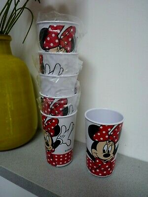 6 Disney Mini Mouse Drinking Beakers High Quality, New.