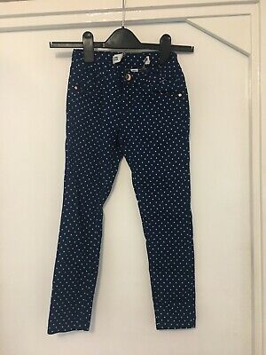 Denim & Co Girls Denim Spotted Jeans Age 7-8 Years