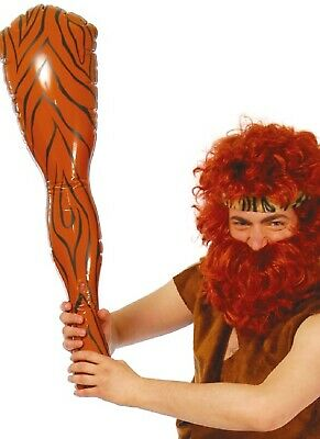 Mens Ladies Inflatable Caveman Woman Club Bat Fancy Dress Costume Accessory