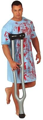 Mens Ladies Inflatable Crutch Prop Hospital Injury Fancy Dress Costume Accessory