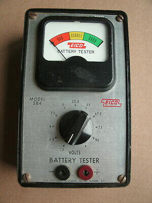 Vintage EICO model 584 Battery Tester Working in good condition