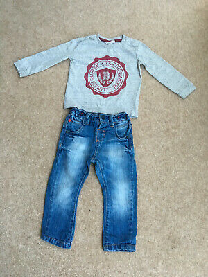 Next Boys Jeans & F & F Long Sleeve Top 9 - 12 months