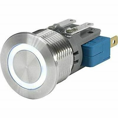 Push Button Touch Switch, Momentary,Illuminated, White, IP40, IP67 Ag