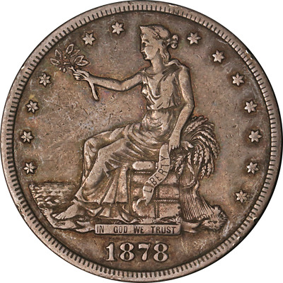 1878-S Trade Dollar Choice VF+ Great Eye Appeal Strong Strike