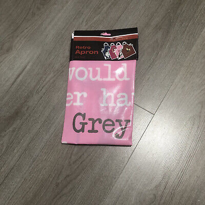 Cheeky Retro Cooking Apron Gift 'Mr Grey' 50 Shades Rrp £8