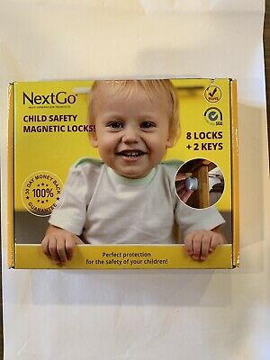 NextGo Child Safety Magnetic Locks New 10 Piece