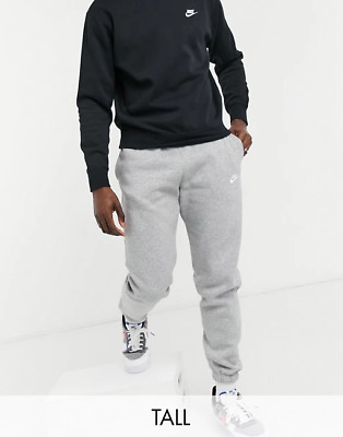 Nike Tall Grey Club Cuffed Jogger Jogging Bottoms Fleece