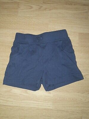 Girls Blue Shorts Age 2-3 Years From George