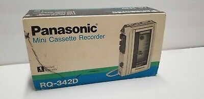 Vintage Panasonic Model No. RQ-342D One Touch Mini Cassette Recorder Auto Stop