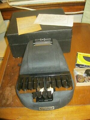 Vintage Antique STENOTYPE Stenograph Machine with Original Case